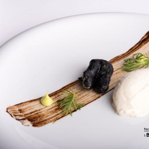 Udine_Gelato di baccalà_Chef Stefano Basello_Il Fogolar - Là di Moret